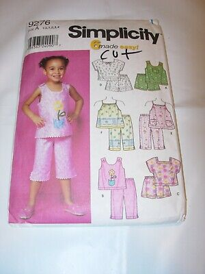 SIMPLICITY P2027 TODDLERS/' TOP.. 1//2 to 4 SIZE A, NEW UNCUT