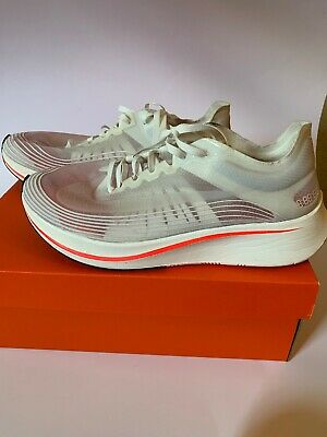 2832d18e8d9a Nike Zoom Fly SP Men s Size 10.5 White Sail Crimson Red AJ9282-106 BREAKING  2