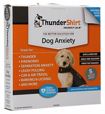 New Thundershirt Dog Anxiety Solution Small Size (Solid Gray)