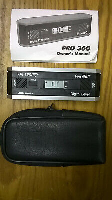 Spi-Tronic Pro 360 Digital Level 31-038-3 + Manual + Case