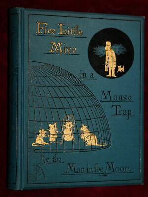 EXRare 1880 KATE GREENAWAY FIVE LITTLE MICE MOUSE-TRAP FINE ONLY ONE WORLDWIDE!!