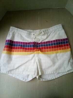 Vintage  HOBIE  Shorts  Size 38  Made in USA Rainbow checks