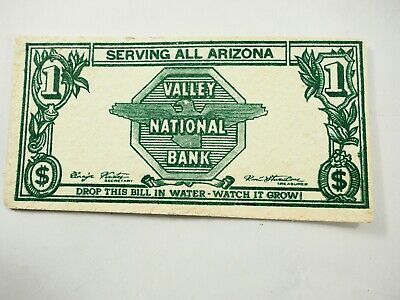 Valley National Bank of Arizona Magic Growing Bill advertisement gimmick