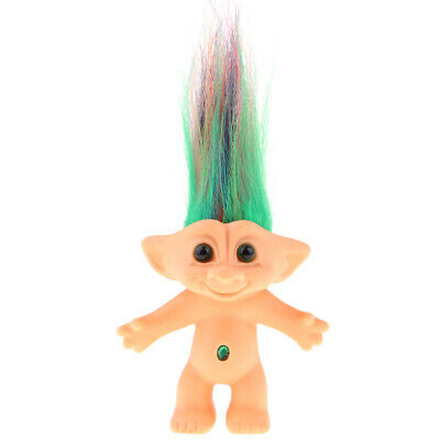 Colorful Lucky Troll Doll Mini Figures Toy Cake Toppers Dollhouse Room Decor