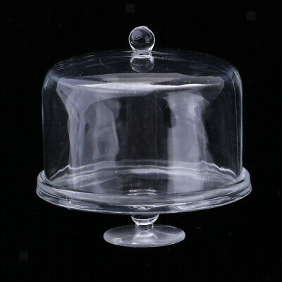 1/12 Acrylic Cake Stand Plate with Lid Dollhouse Miniature Tableware Item #1