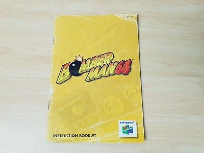 Bomber Man 64 Instruction Booklet only - N64 Nintendo 64 PAL manual