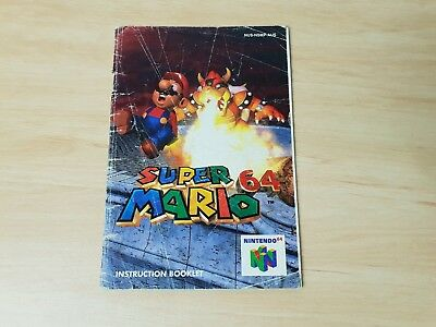 Super Mario 64 Instruction Booklet only - N64 Nintendo 64 PAL manual