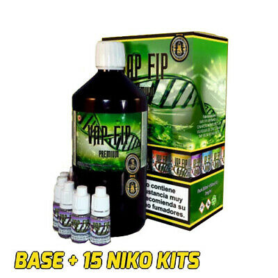 BASE VAP FIP PARA AROMAS VAPEO 850ml+15 NIKO KITS (NICO 3mg/ml) liquido vapear