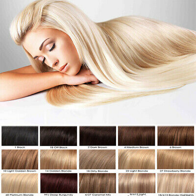 """CLEARANCE Remy Thick Clip In Human Hair Extensions FULL HEAD 10-22"""" Double Weft"""