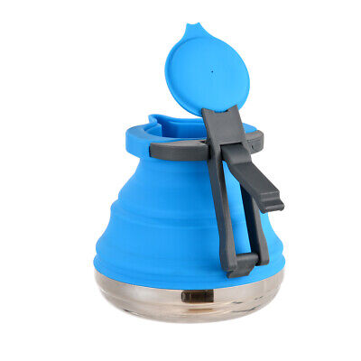 AU 1.2L Portable Collapsible Pop-Up Fold Silicone Kettle Gas Stove Hob Water Pot