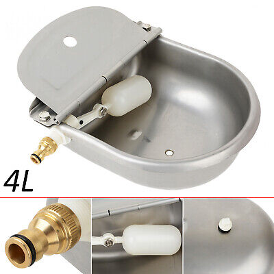 4L Sheep Horse Dog Chicken Cow Bowl Stain Steel Auto Fill Water Trough Automatic