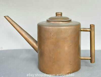 """12"""" Chinese Old Folk Classical Copper Handle Teapot Teakettle"""