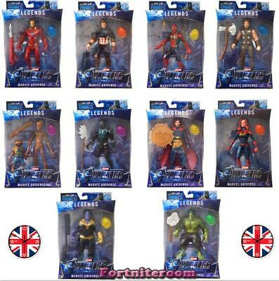 Marvel Avengers Superhero Iron Man Action Figure With BOX+Light Collection Toy