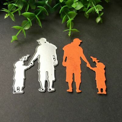 Father Son Playing Cutting Dies Stencil DIY Scrapbooking Album Paper Card Craft