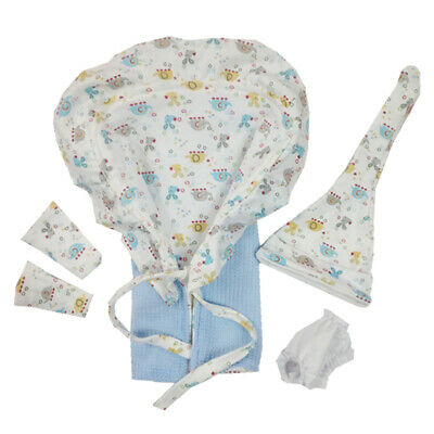 """Newborn Baby Doll Clothes for 10""""-11"""" Reborn Girl Boy Blanket Underpants Hat"""