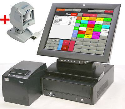 "Till Cash Register System 15 "" 38cm Screen Receipt Printer Retail Kk45"