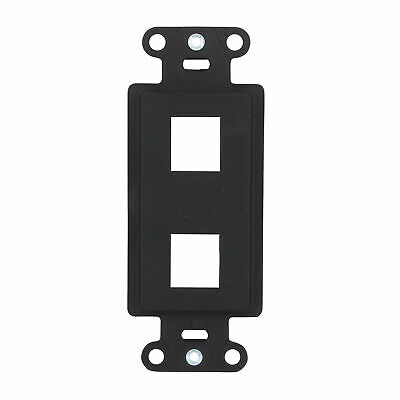 Legrand-On-Q Wp3412-Bk Keystone Decorator Insert Wall-Plate, 2-Port, Black