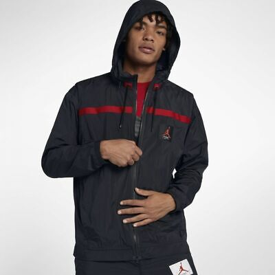 59fe416cbfc6ec Nike Jordan Sportswear Wings of Flight Windbreaker XL Black Red Jacket  Hoodie