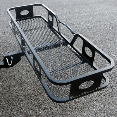 """60""""x20"""" Cargo Carrier Steel Iron Hitch Mounted Folding Luggage Basket tray"""