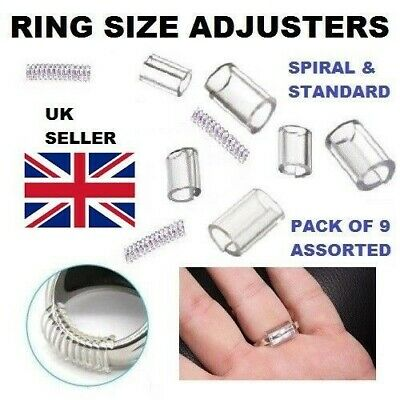 Invisible Clip Guard Resizer Golden and Clear Sizers Pack of 21pcs Ontaryon Assorted Ring Size Adjuster for Loose Rings 7 Styles Reducer to Make Ring Smaller Ideal for Silver and Gold