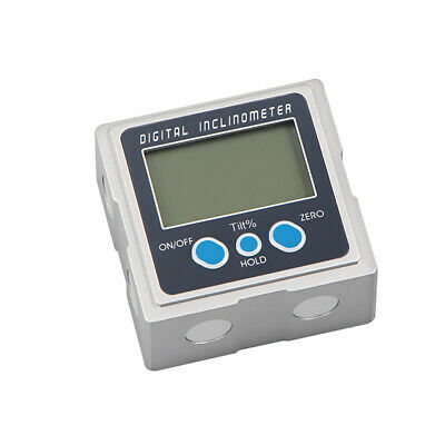 LCD Digital Inclinometer Level Box Protractor Angle Gauge Meter Magnet Base I1W4