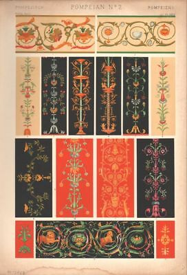 Owen Jones / Pompeian No 2 PRINT GRAMMAR OF ORNAMENT 1868