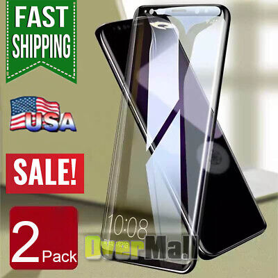 2x Samsung Galaxy S9 S8 Plus Note 8 9 Full Cover Tempered Glass Screen Protector