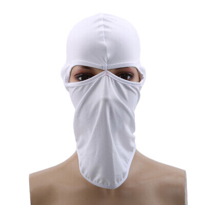Tactical Solid Quick-Drying Full Face Mask Balaclava Hood Hat Airsoft Hunting LG