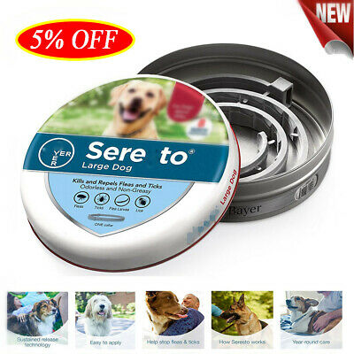 Flea and Tick Collar for Small Dog Up to 18lbs 8 Month Protection #