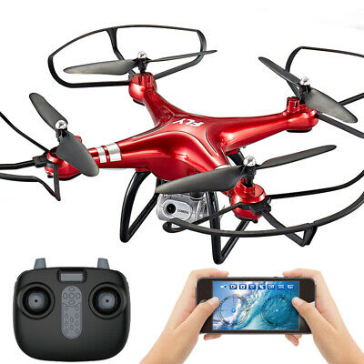 Global Drone X6 5.8G 1080P WiFi FPV Camera Quadcopter Dron Aircraft Hot Red