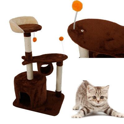 "Small Size 39"" Cat Tree Furniture Pet House Scratcher Play Cat Climb Tower"