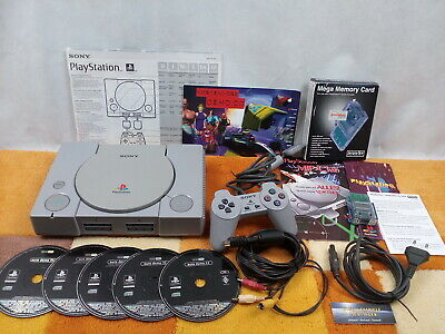 PS1 Playstation 1 SCPH-1002 + Zubehörpaket: Sony Controller + Anleitung + Demos