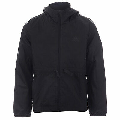 Girls adidas Junior Girls Windbreaker Jacket in Black - 7-8