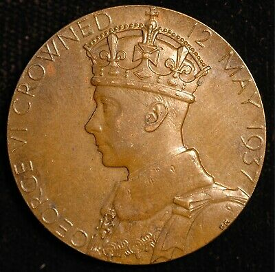 George VI Official Coronation Medal 1937 32mm (Tray 115)