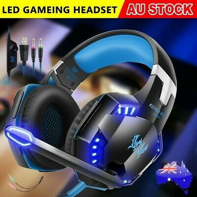 LED 3.5mm Gaming Headset MIC Headphones for PC Mac Laptop PS4 Xbox One 360 AU