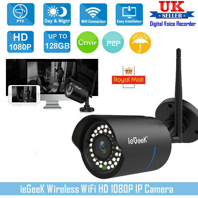 ieGeeK Security HD 1080P Wireless CCTV WIFI IP Camera Outdoor IR Night Vision UK