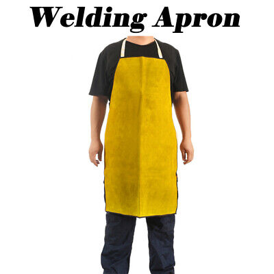 Leather Welders Apron Glaziers Welding Work Safety Workwear Blacksmith Yellow
