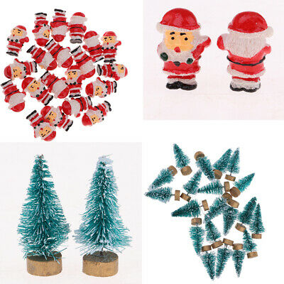 Lot 40 Dollhouse Mini Garden Decors Xmas Tree Santa Claus Kid Toys Gift 1:12