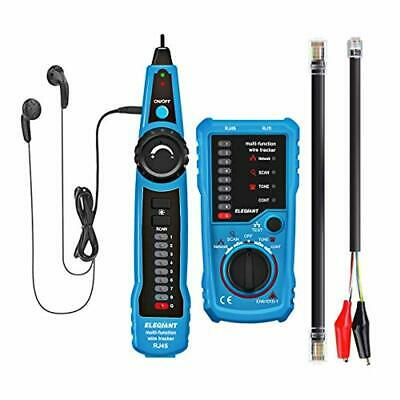 Wire Tracker, ELEGIANT RJ11 RJ45 Cable Tester Line Finder Multifunction Wire Tra