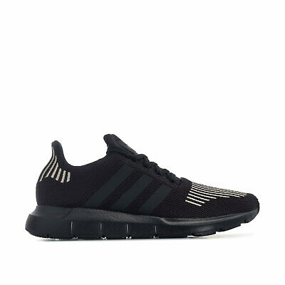 finest selection dc89f 2287e Mens adidas Originals Swift Run Trainers In Black- Breathable Knit Upper
