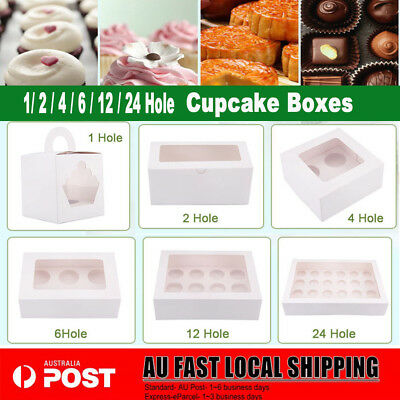Cupcake Box Range 1 hole 2 hole 4 hole 6 hole 12 hole 24 hole window face