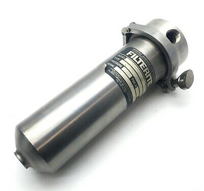 """Filterite 910554-000 Filter Housing 3/4""""NPT 175PSI Stainless Steel *No O-Ring*"""