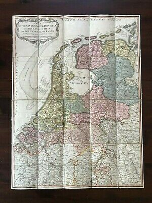 1789 Map Of The Seven United Provinces The Land Of Drent The Generality Holland