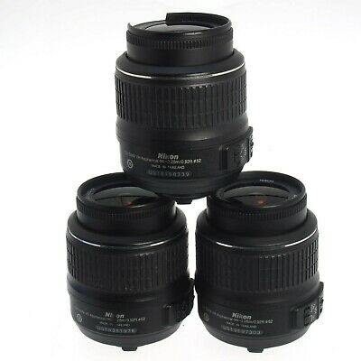 Lot Of 3 18-55mm f/3.5-5.6 VR Auto Focus F Mount Lens As-Is Zoom Focus Issues