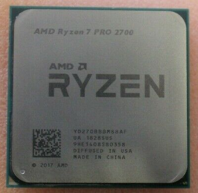 AMD Ryzen 2nd Gen 7 PRO 2700 31.GHz - Boost 4.1 GHz Eight Core