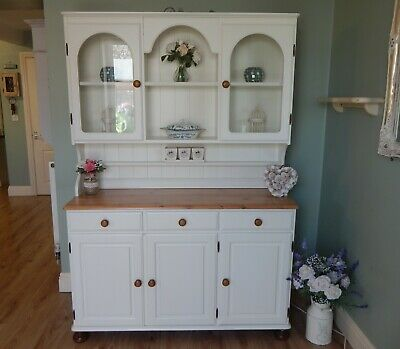 "Gorgeous Vintage Country Farmhouse Pine Welsh Dresser Made By ""Ducal"""