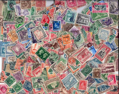 British Empire Stamps Collection - 500 Different All Pre Queen Elizabeth