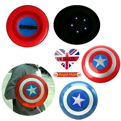Cosplay Avengers Captain America Shield Toy With LED Light Kids Gift Collectible