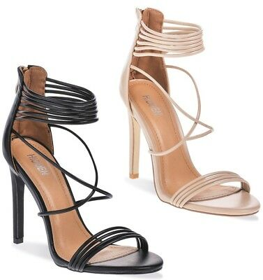 e3dec24fa4e WOMENS LADIES ROSE Gold Barely There High Heel Party Sandals Ankle ...
