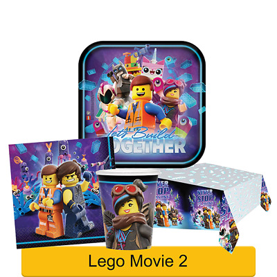 LEGO MOVIE 2 Birthday Party Range - Tableware & Decorations Supplies {Amscan}